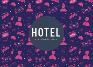 Free Hotel Vector Seamless Pattern