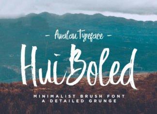 Free Hui Boled Brush Font
