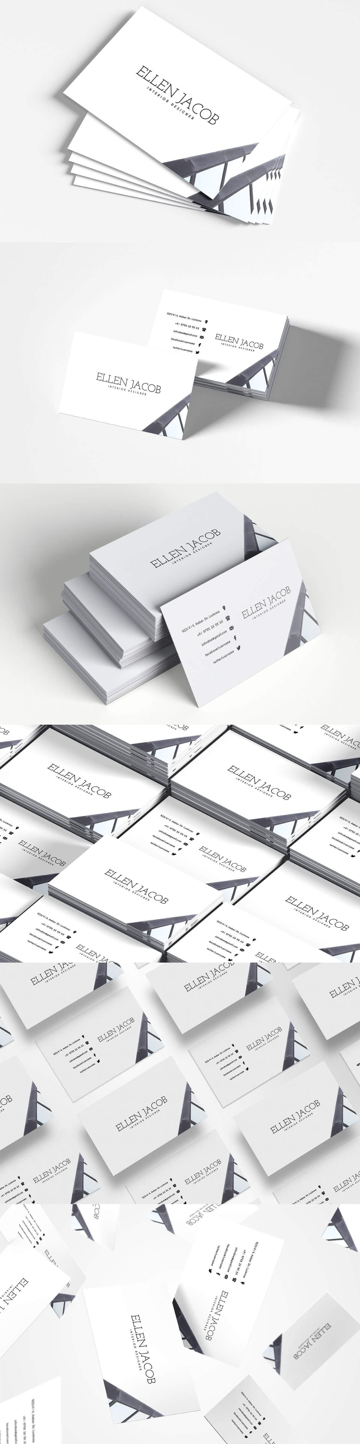 Free Interior Design Business Card Template