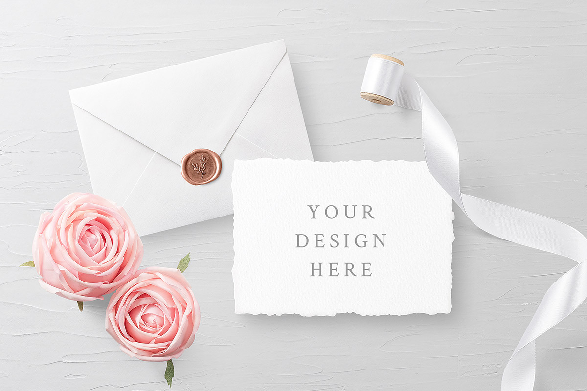 Free Invitation Card Mockups