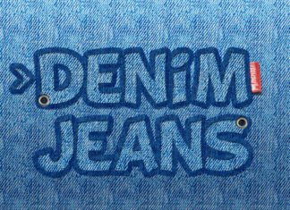 Free Jeans Text Photoshop Template