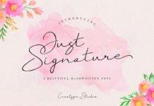 Free Just Signature Script Font