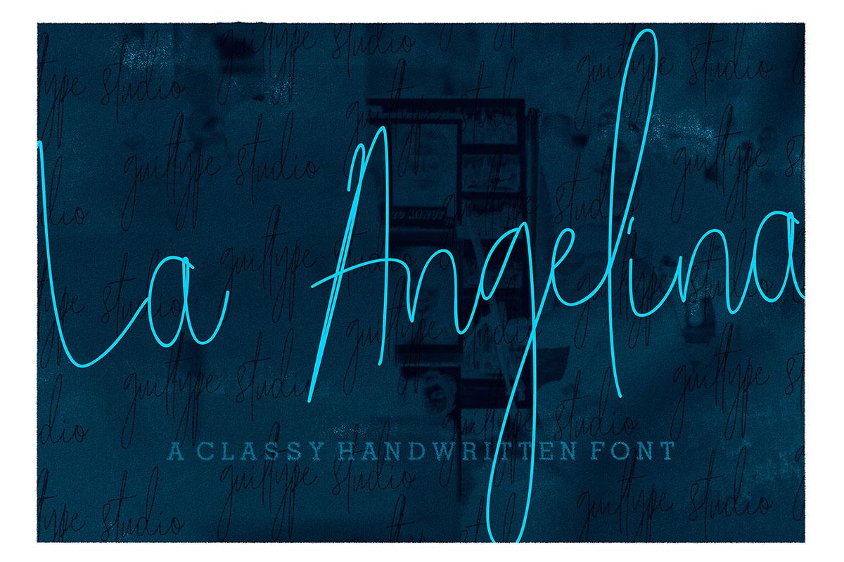 Free La Angelina Handwritten Script Font