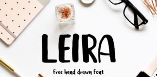 Free Leira Hand Drawn Brush Font