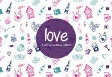 Free Love Illustration Vector Pattern