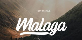 Free Malaga Script Font