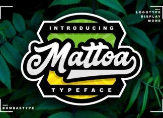 Free Mattoa Sports Script Font