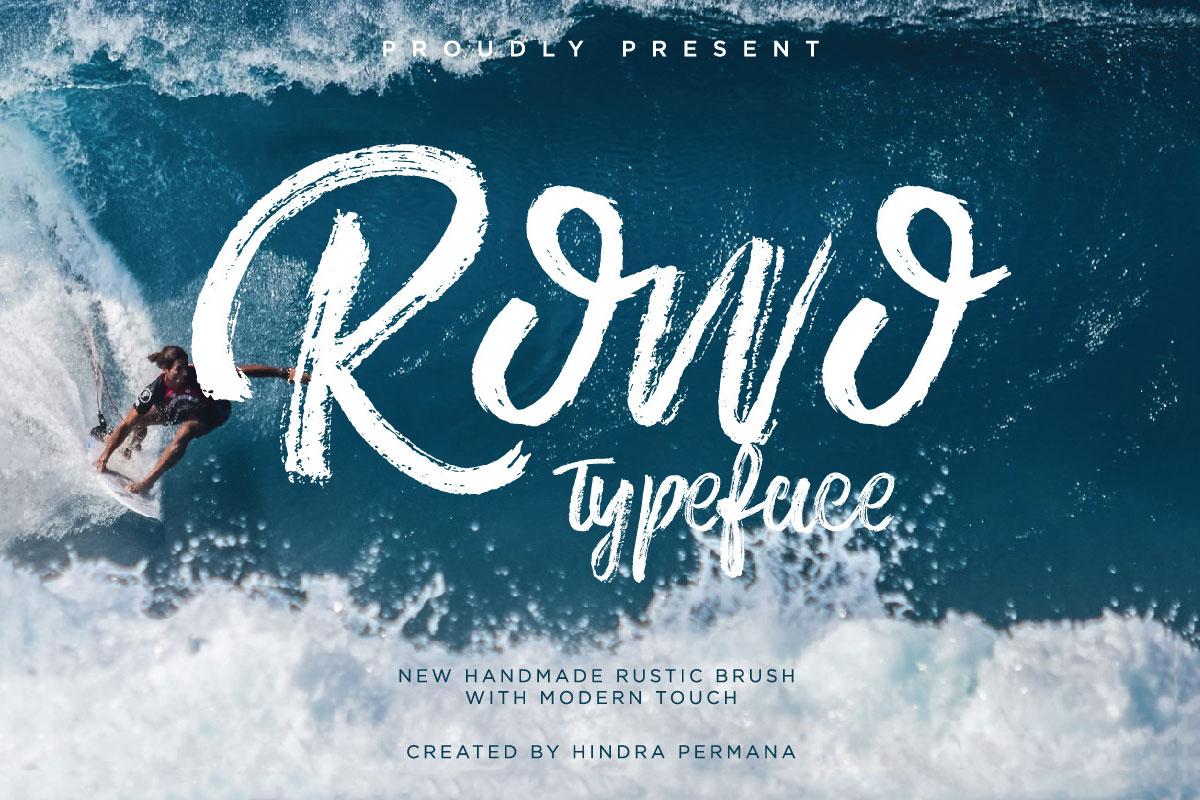 Free ROWO Handmade Brush Font
