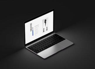 Free Realistic Macbook Mockup