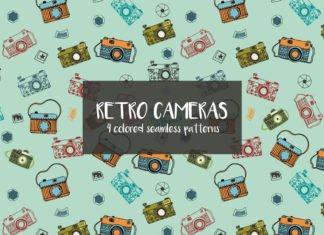 Free Retro Cameras Vector Pattern