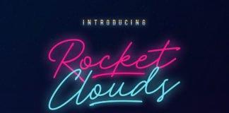 Free Rocket Clouds Script Font