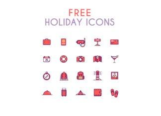 Free Summer Holidays Icon Set