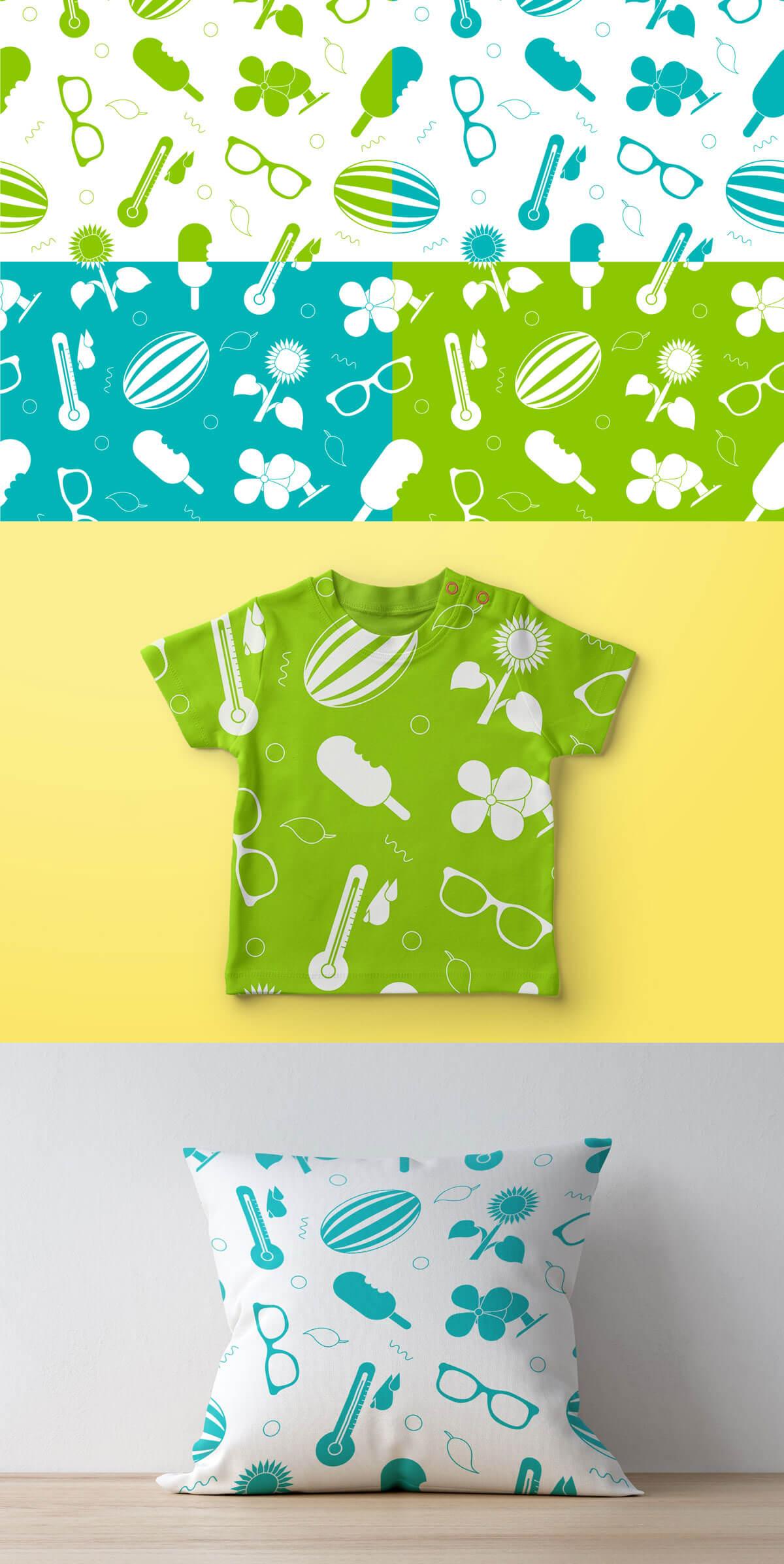 Free Summer Seamless Pattern Pack