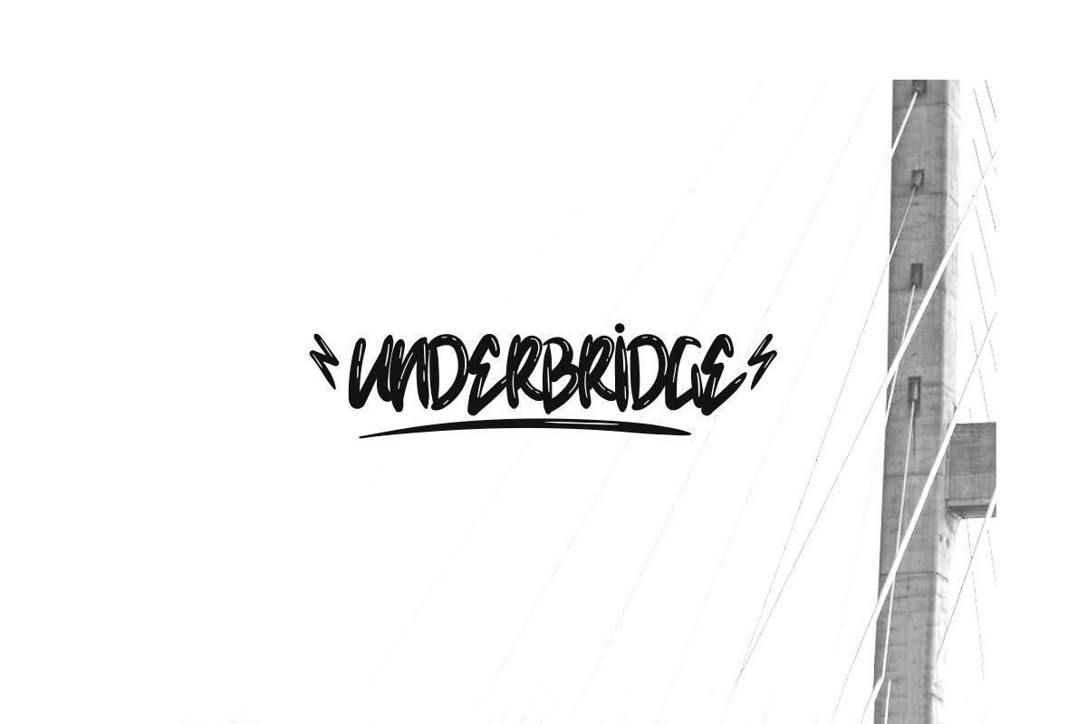 Free Underbridge Wet Handwriting Font