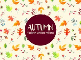 Free Watercolor Autumn Vector Seamless Pattern