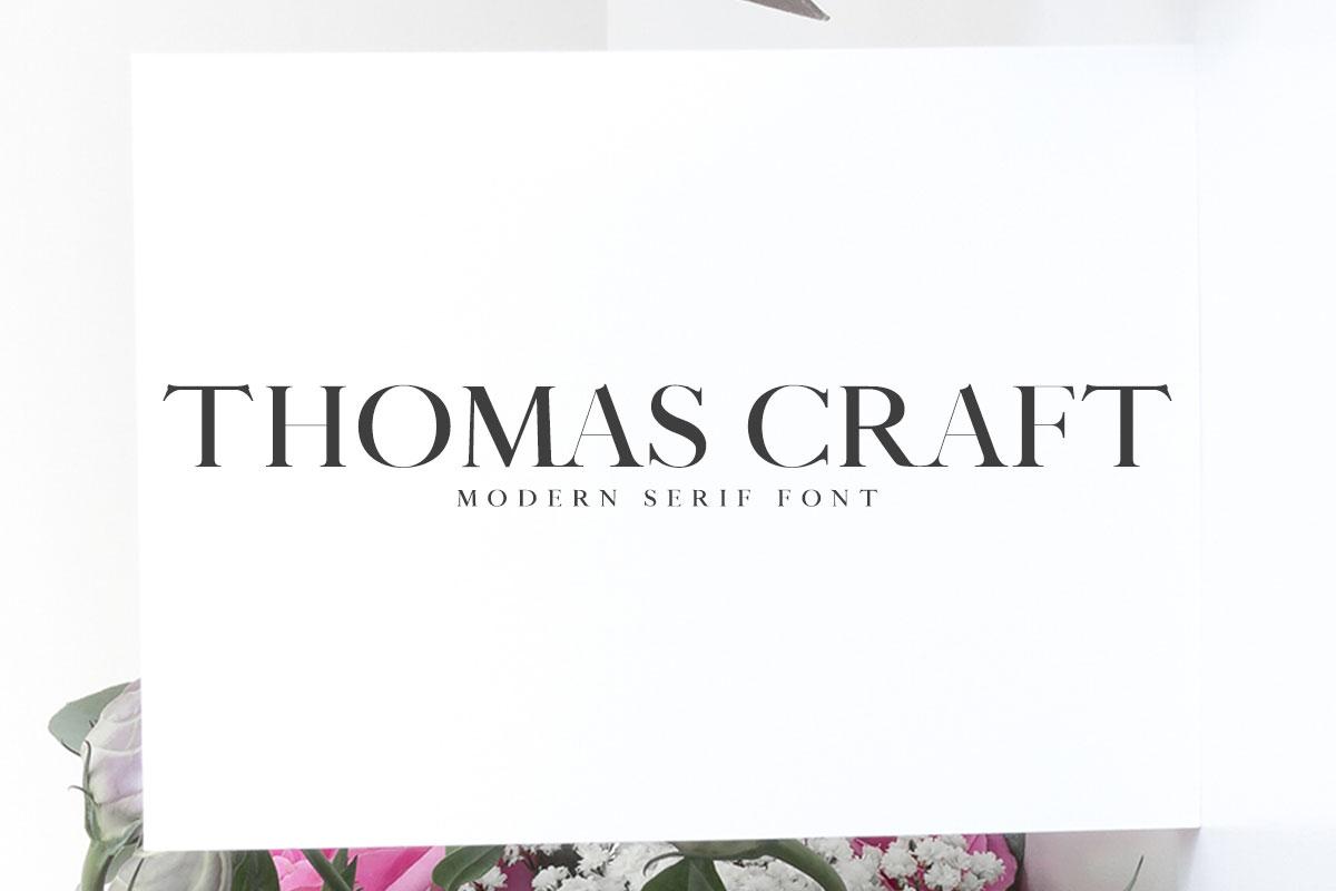 Free Thomas Craft Modern Serif Font