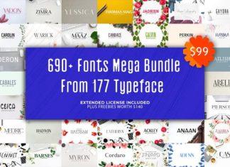 680+ Fonts Mega Typography Bundle