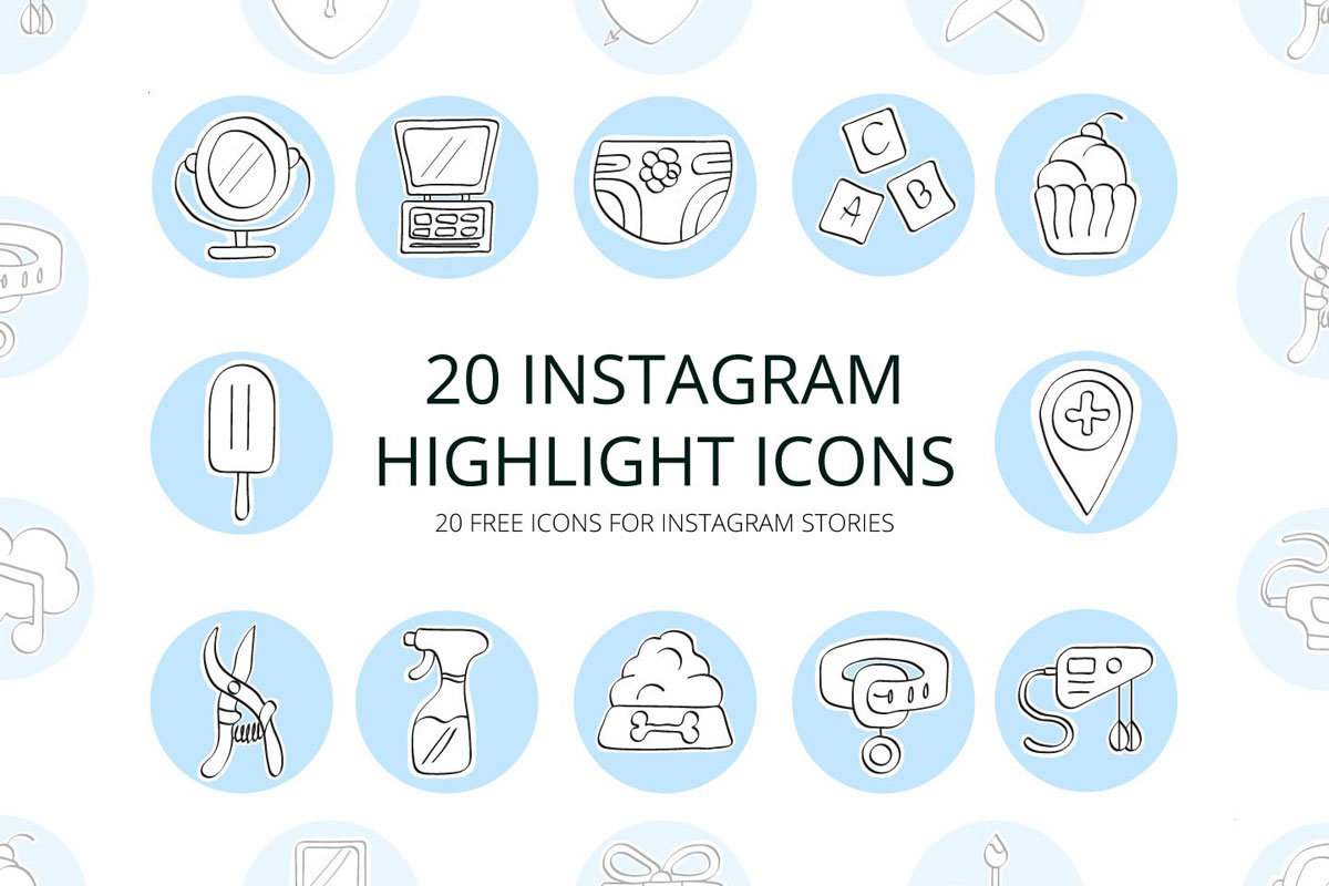 20 Free Instagram Highlight Icons