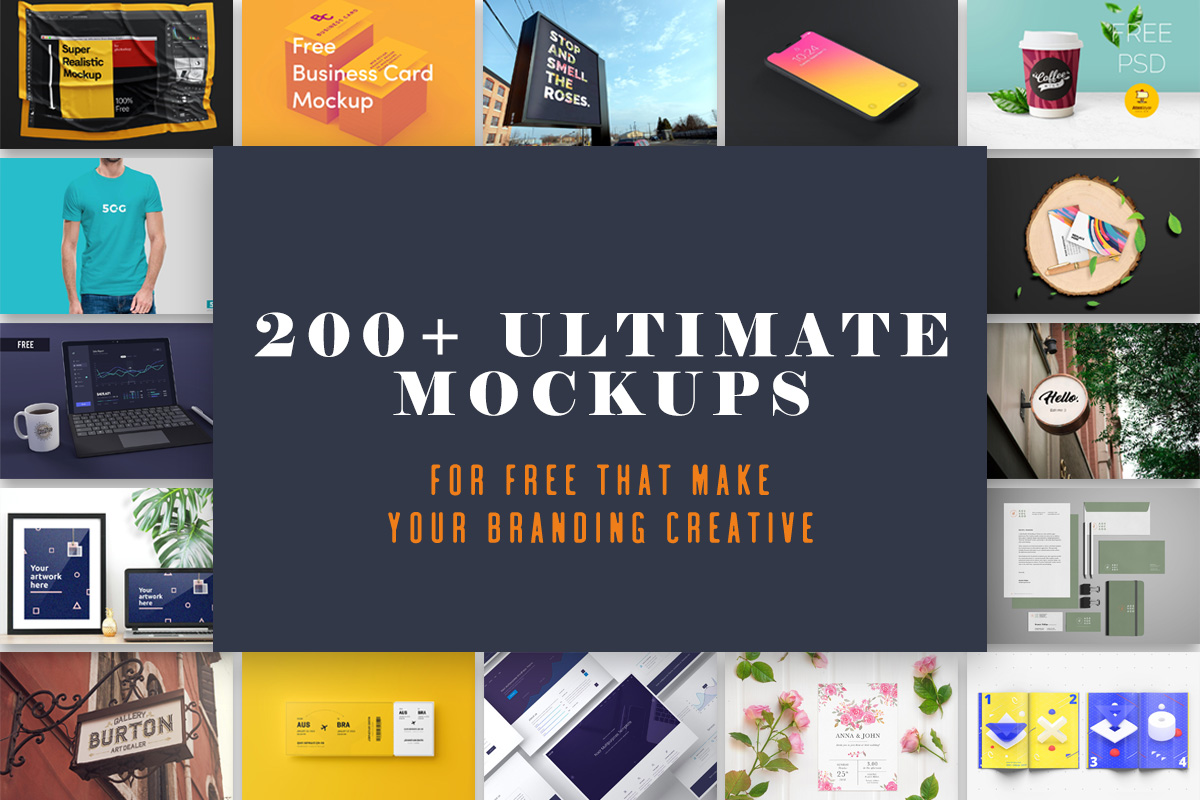 200+ Ultimate Mockups For Free That Make Your Branding