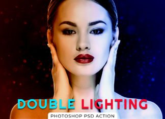 Double Lighting Photoshop PSD Action