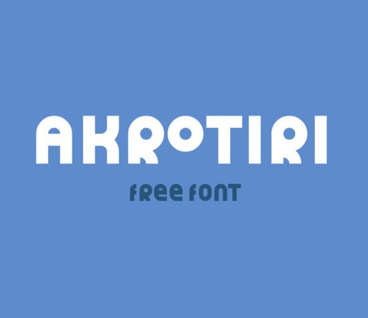 Free Akrotiri Display Font