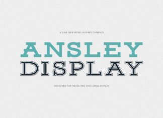 Free Ansley Display Font