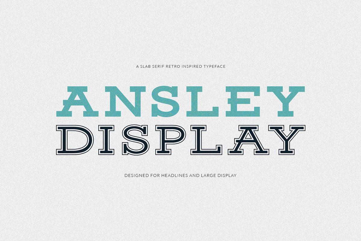 Free Ansley Display Font