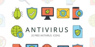 Free Antivirus Vector Icon Set