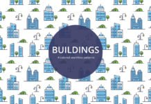 Free Buildings Vector Seamless Pattern
