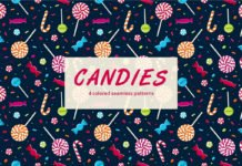 Free Candy Vector Seamless Pattern