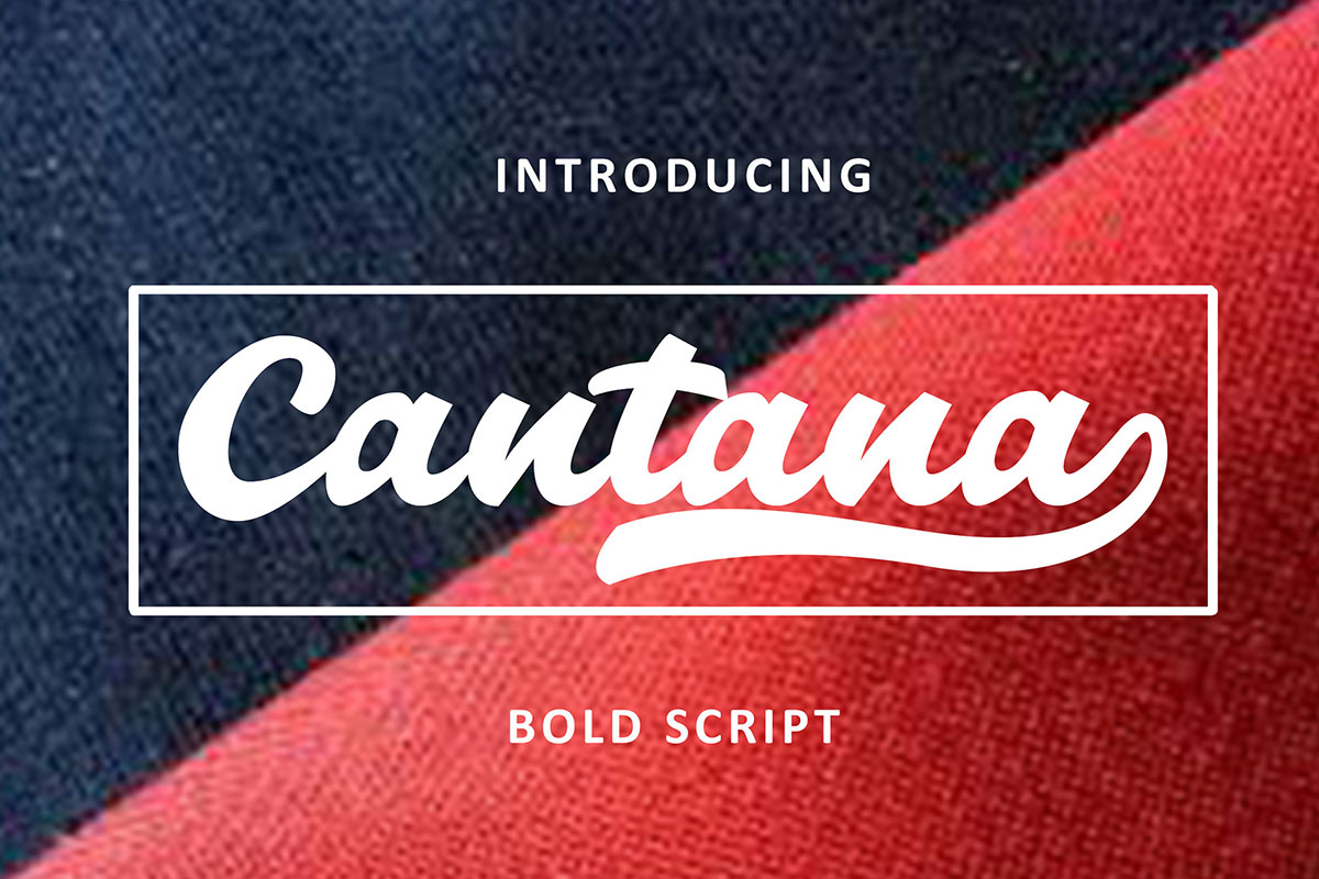 Free Cantana Bold Script Font