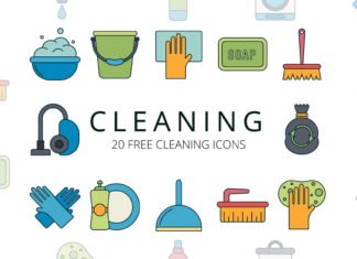Free Cleaning Vector Icon Set