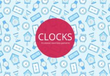 Free Clocks Vector Seamless Pattern