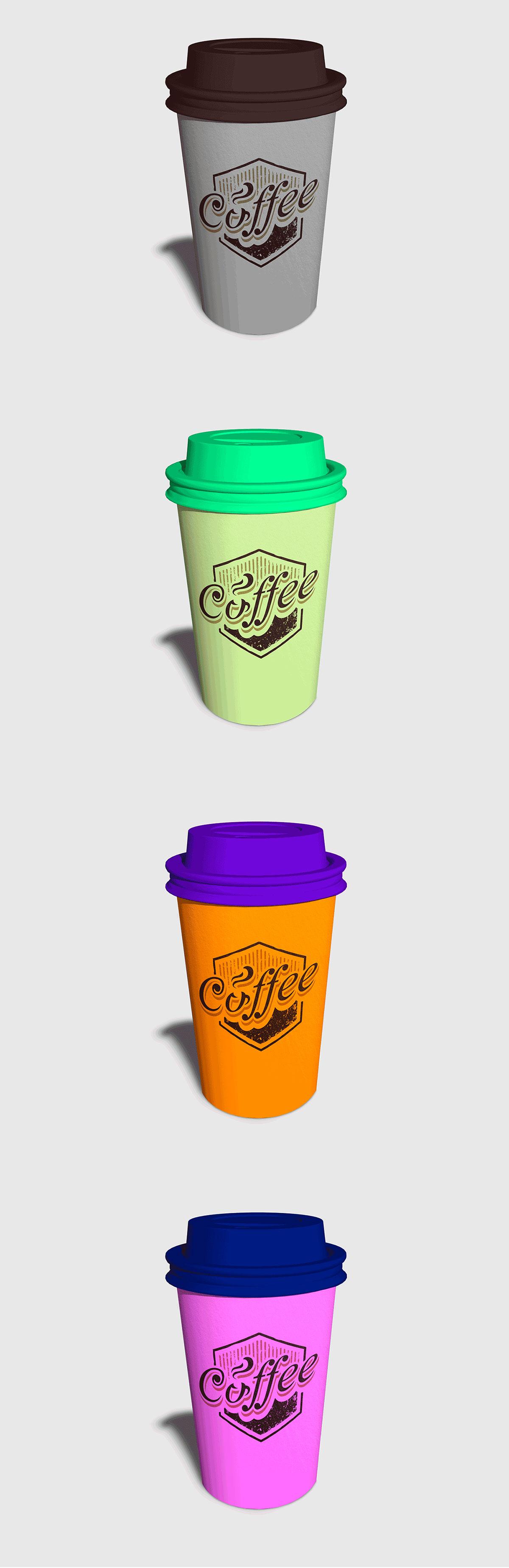 Free Coffee Cup Photorealistic Mockup