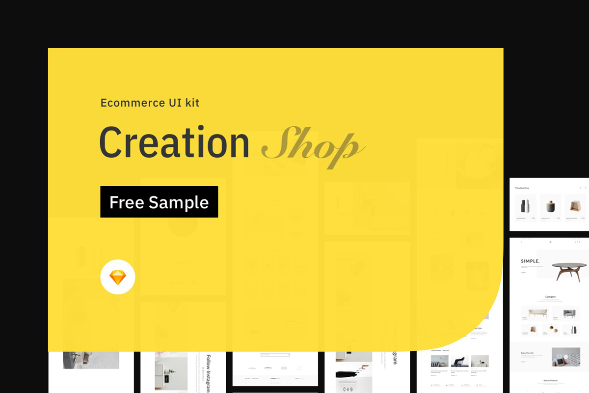 Free Creation Shop UI Kit