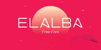 Free Elalba Display Font