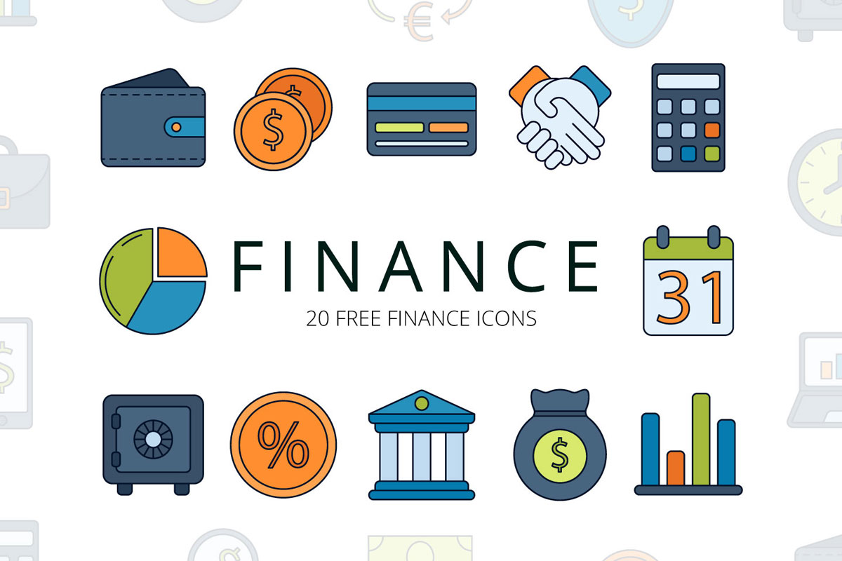 Free Finance Vector Icon Set