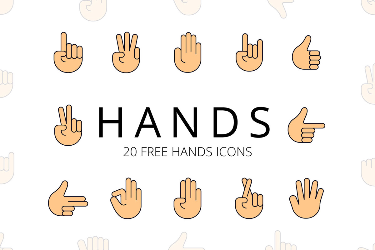 Free Hands Vector Icon Set