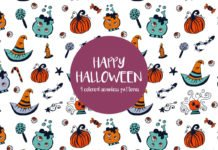 Free Happy Halloween Illustration Vector Pattern