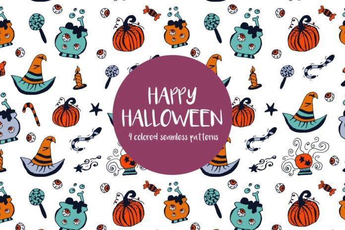 Free Happy Halloween Illustration Vector Pattern