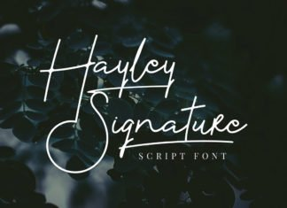 Free Hayley Signature Font
