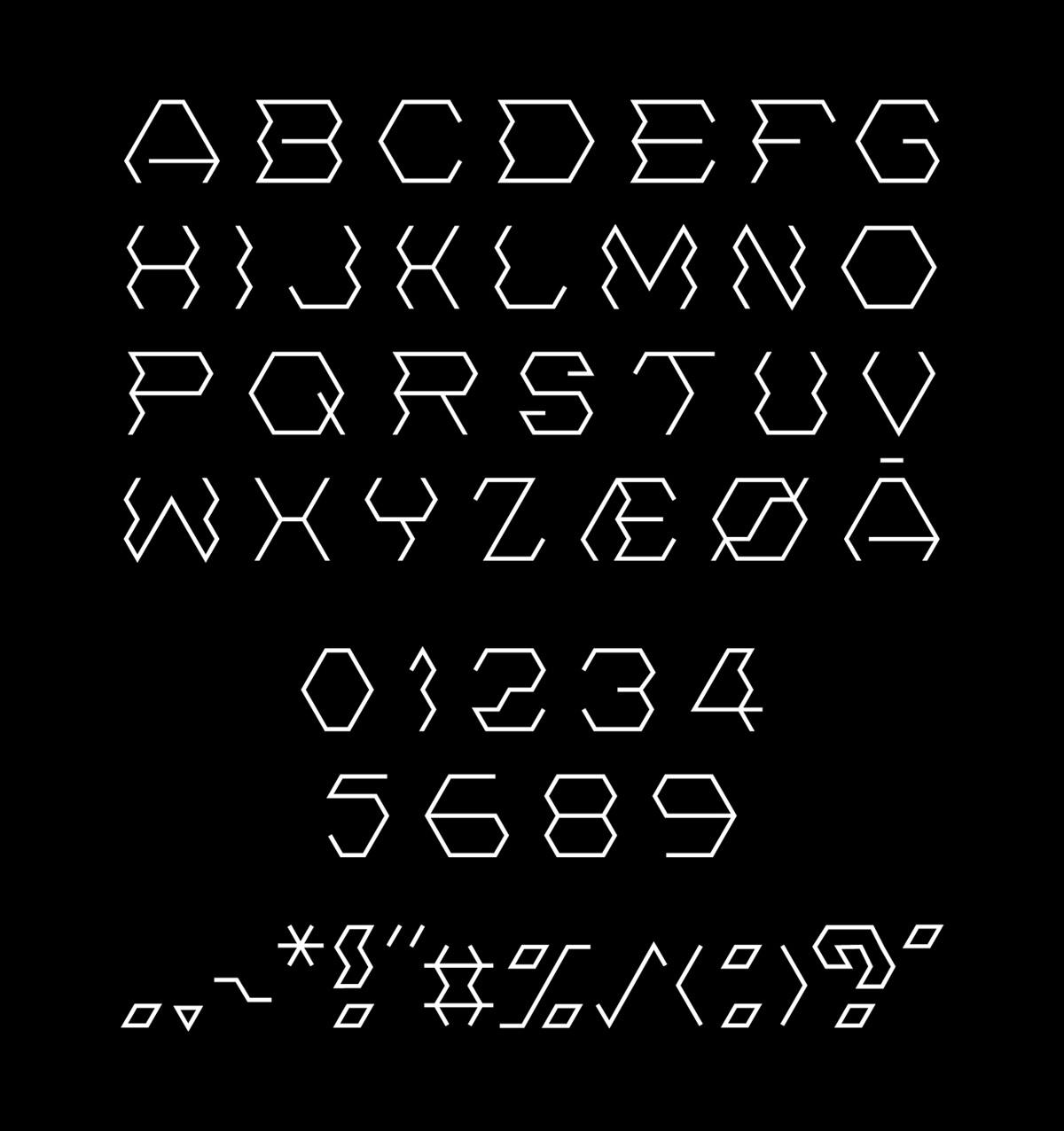 Free Hexonny Decorative Font