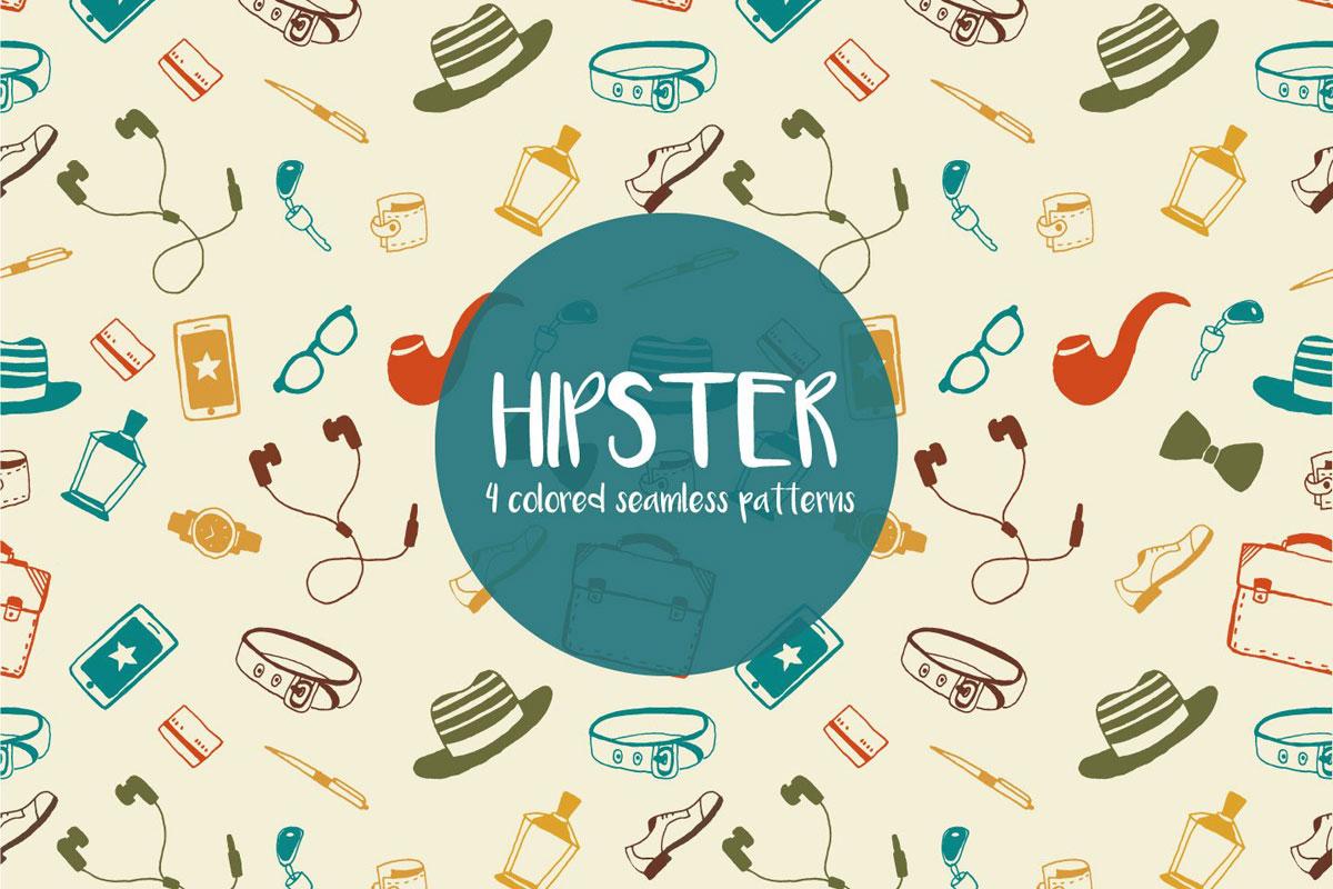 Free Hipster Illustration Vector Pattern