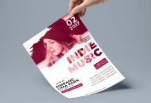 Free Music Flyer PSD Template