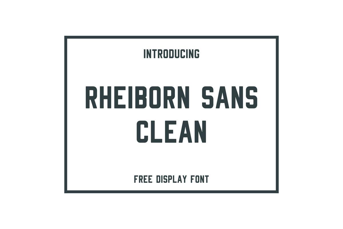 Free Rheiborn Sans Serif Font