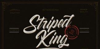 Free Striped King Vintage Script Font