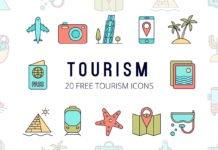 Free Tourism Vector Icon Set