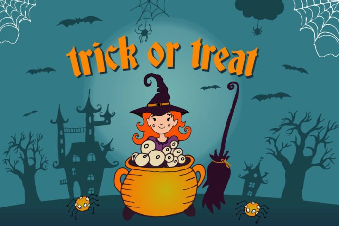 Free Trick Or Treat Vector Illustration