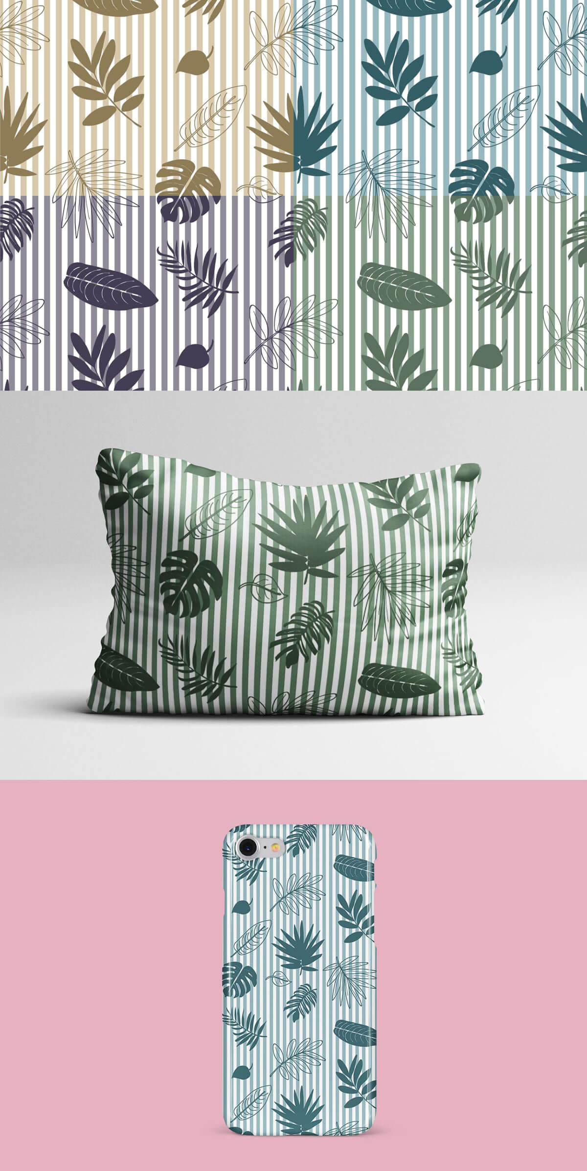 Free Tropical Leaves Vector Seamless Pattern