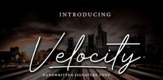 Free Velocity Handwritten Signature Font